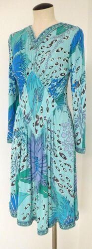 VINTAGE BESSI BLUE FLORAL PRINT DRESS AVERARDO BES
