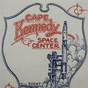 Vintage-NASA-Cape-Kennedy-Luggage-Label-Decal-Titan-Rocket-Gemini-1960-70-039-s