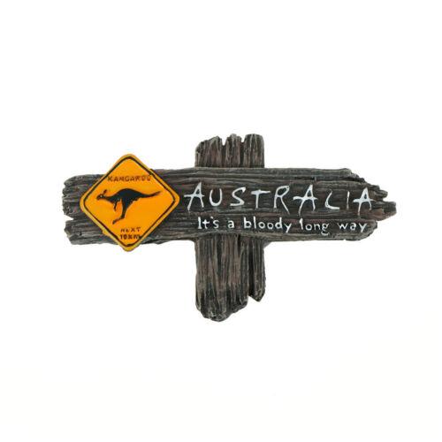touristischen Souvenir Harz 3d Kühlschrankmagnet Känguru Australien Reisege  CL