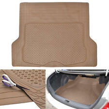 Odor-Free Cargo/Trunk Liner Mat for Car Van SUVs Trimmable Rubber Tough - Beige