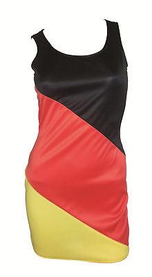 Träger - Kleid Damen Gr.S WM 2018 schwarz/rot/gelb Fussball Fanartikel