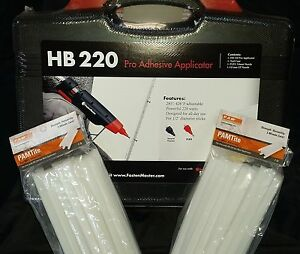 Adhesives, Sealants & Tapes Business & Industrial HOT MELT GLUE GUN KIT FASTENMASTER/Pam HB220 and 36 Flex 40 Glue Sticks