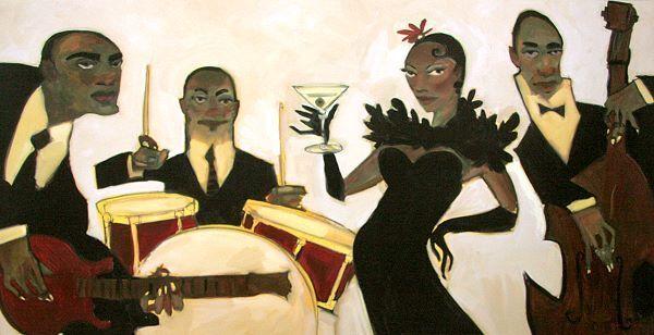 Bailey   Too Much Jazz Musique Tableau Prêt 50x100 Tableau Mural