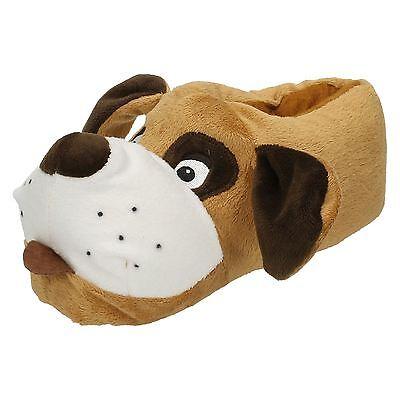 KINDER EAZE WARM KUSCHELIG NEUHEIT DOG PANTOFFELN X2073
