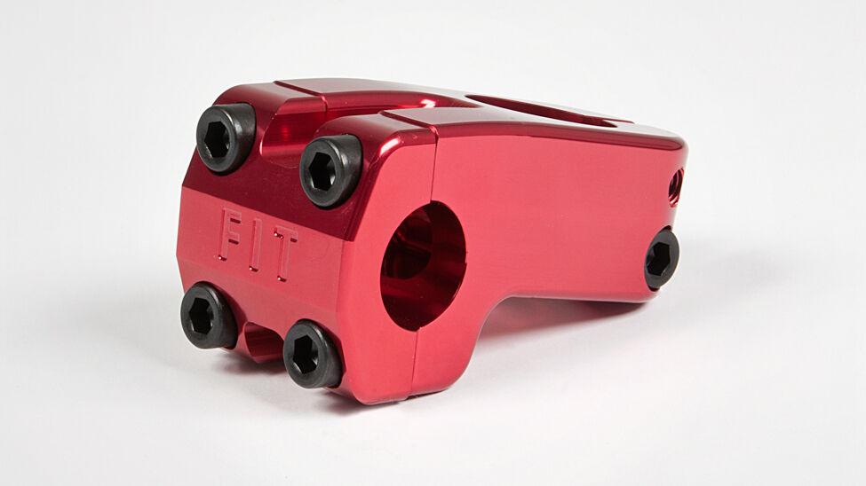 BMX FIT BENNY STEM RED  threadless STEM 1 1 8