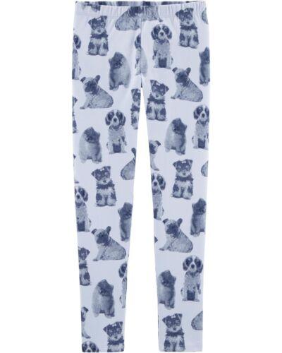 NWT OshKosh Girls Puppy Dog Leggings Perwinkle 5T,6//6X,7,8,10,14