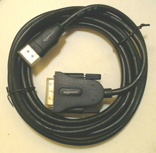 DisplayPort to DVI AmazonBasics 10/' ft Cable Gold Plated Connector HL-007269