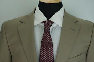 Ermenegildo-Zegna-Khaki-Brown-100-Wool-2-Piece-Suit-Jacket-Pants-Sz-38R-Italy