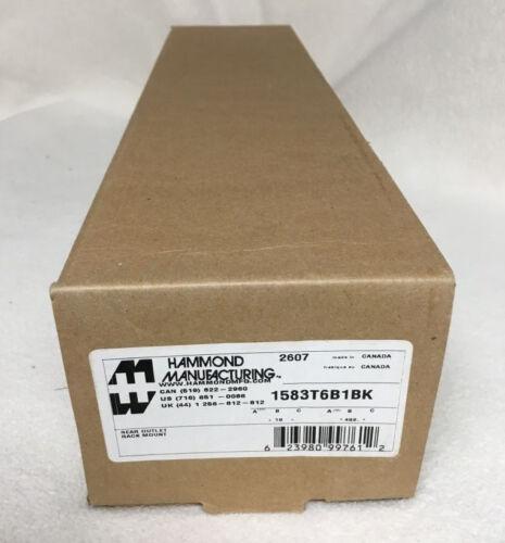 NEW Hammond 1583T6B1BK Rackmount Rack Power Strip 6-Outlet NEMA 5-15P 15Ft Cord