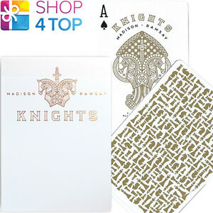 ELLUSIONIST-KNIGHTS-GOLD-WHITE-PLAYING-CARDS-DECK-MADISON-RAMSAY-CHESS-NEW