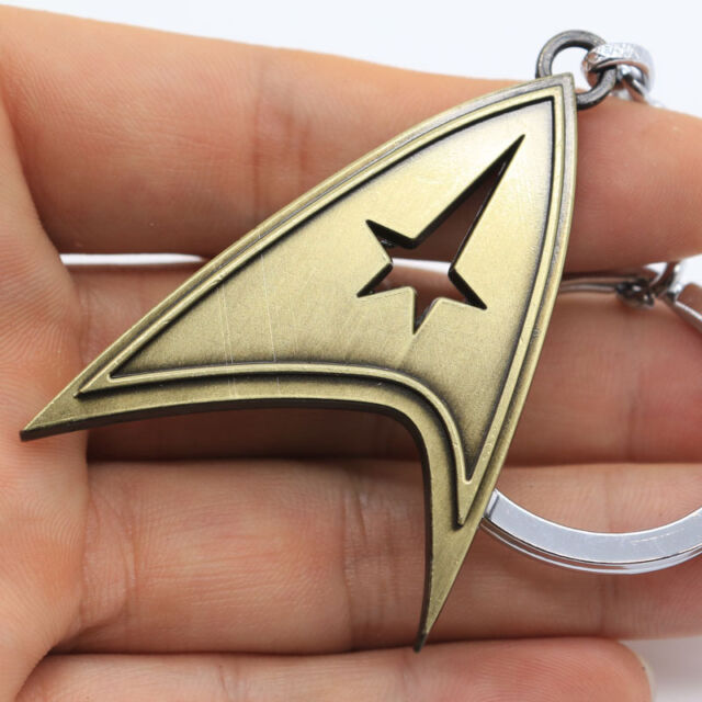 New Star Trek Logo Metal Keyring Keychain Bronze Gold Color