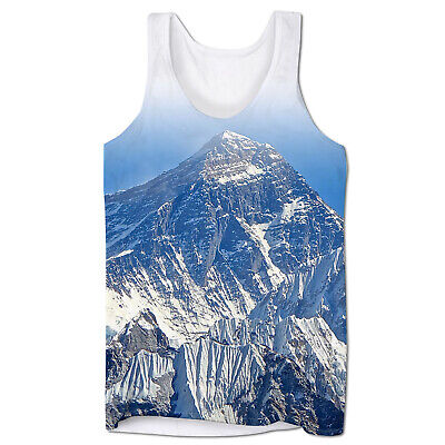 Cool Mountain Snow Holiday Festival Rave Summer Holiday Mens Low Cut Vest