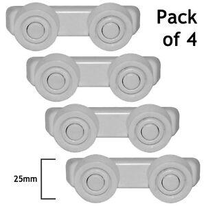 PRESTIGE-PROLINE-TECNOLEC-Dishwasher-Basket-Slide-Rail-Runner-Support-Wheels-x-8