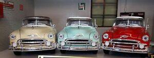 1-24-25-Scale-Chevrolet-1950-Chevy-Bel-Air-Motormax-Diecast-Model-Car-3-Colours
