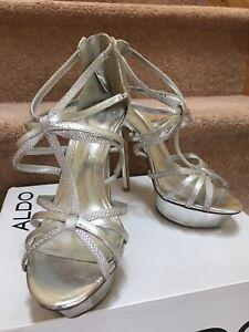 Party Heels Womens Sandals Rosander Platforms Prom Eu39b Stiletto Aldo Silver zZwSHX