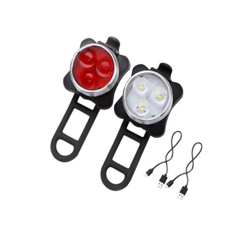 LED Mountain Bike Bicycle Front Rear Lights Set USB Rechargeable Waterproof UK