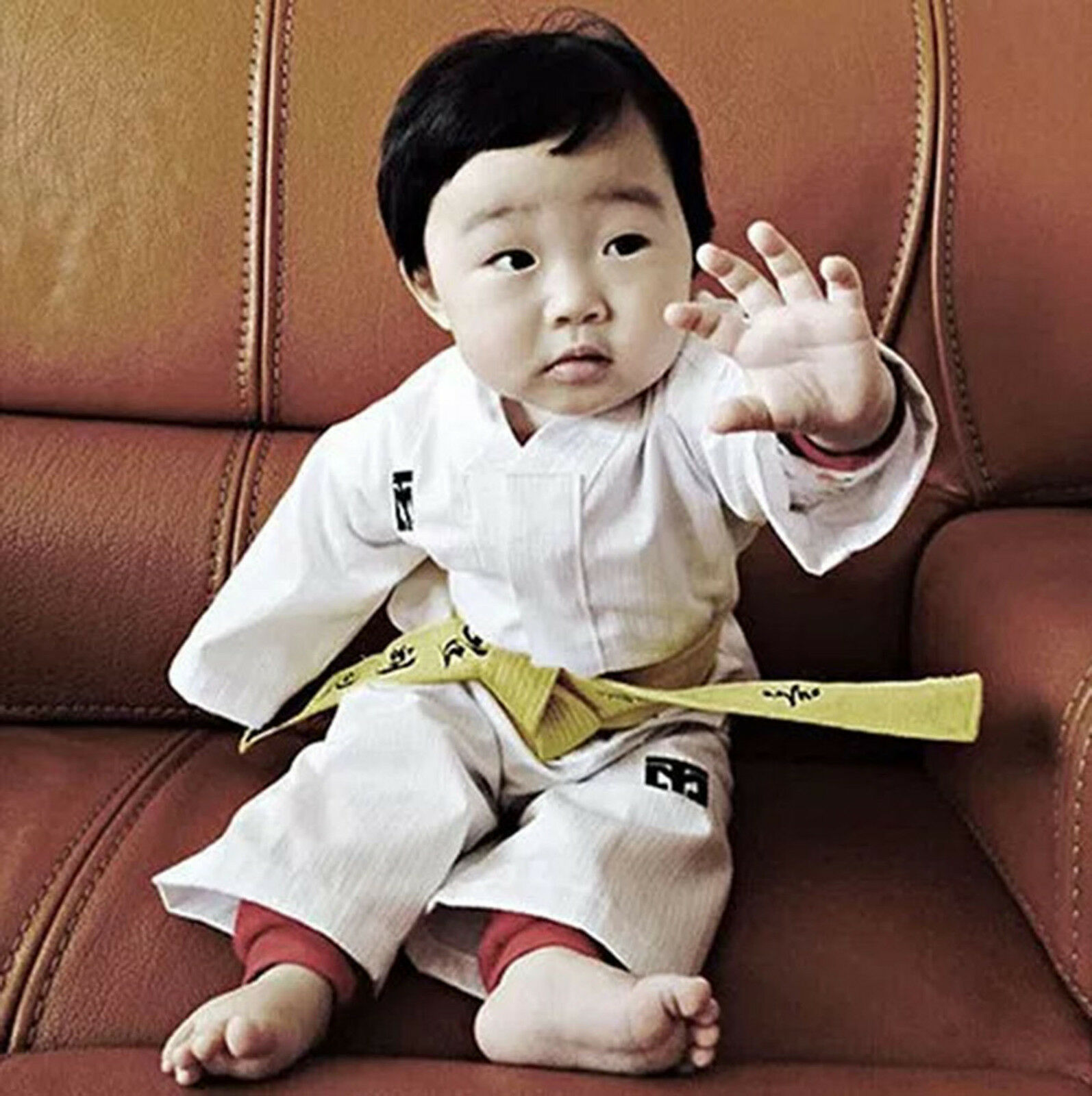 Mooto first birthday uniforms 1st year anniversary suits gifts presents MMA TKD