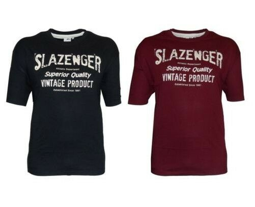 Slazenger Mens Pure Cotton Printed Tee Shirt (Wilkins) in Size 2XL-5XL,2 Options