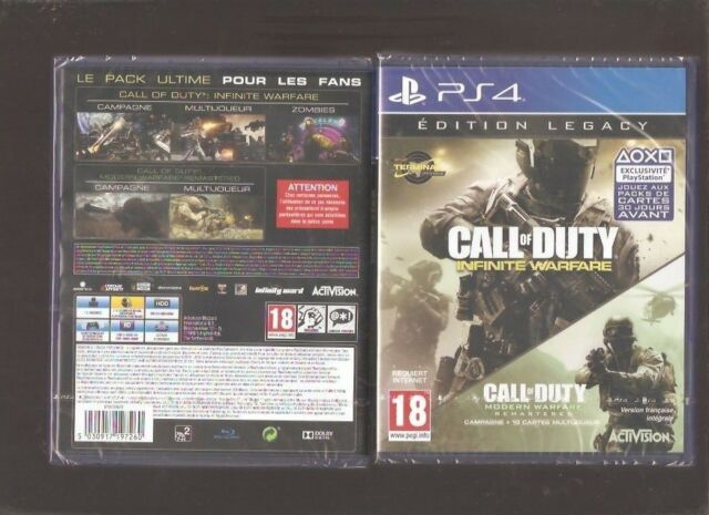 CALL OF DUTY INFINITE WARFARE Edition Legacy : Culte sur PS 4. Jeu NEUF Blister