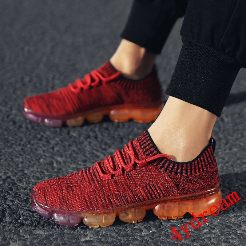 InStock Homme Shockproof Max UltraLight Air Sole Fly knit Athletic Sneaker A01