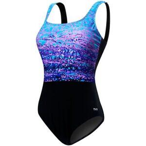 Women's Plus Size Solid Aqua Controlfit Swimsuit