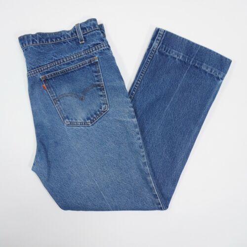 Vintage 90s Levis 517 Mens 36X30 Blue Faded Distr… - image 1
