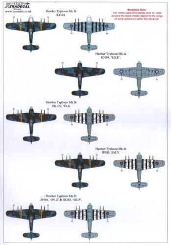 NEW Xtradecal X72239 1:72 Hawker Typhoon Mk.Ib Car Door 11 Marking Options