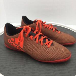 fuego La cabra Billy cheque  Adidas Mens X 17.4 Indoor Soccer Shoes Orange Lace Up Breathable S82406 7.5  | eBay