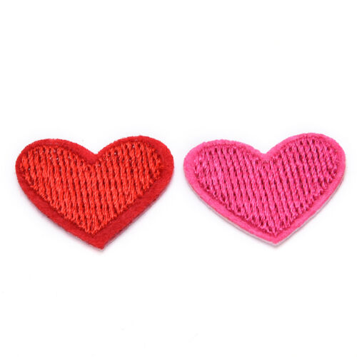 Cute Solid Red Heart  Embroidered Iron On Or Sew On Patch Nice BH