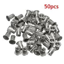 50pcs M6 Thread 304 Stainless Steel Flat Head Rivet Nut Rivnut Insert Nutsert