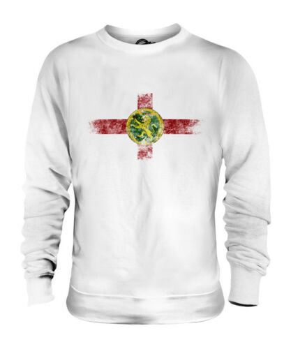 New ALDERNEY DISTRESSED FLAG UNISEX SWEATER TOP FOOTBALL GIFT SHIRT CLOTHING JERSEY for sale