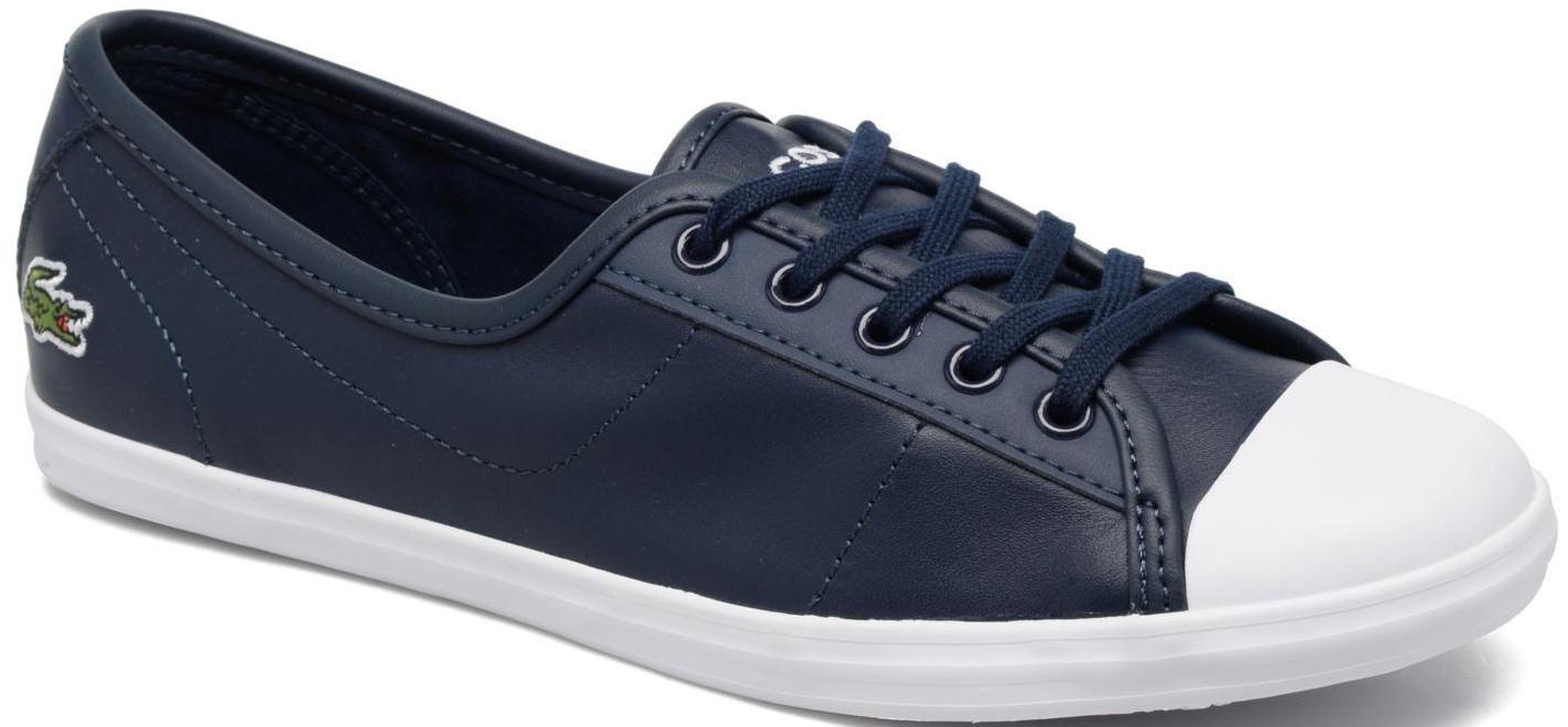 Lacoste Ziane Azul Marino blancoo Cuero Zapatillas para para para mujer  mejor calidad mejor precio