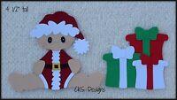 Christmas Santa Baby & Presents Die Cut Scrapbook Embellishment Paper Piecing
