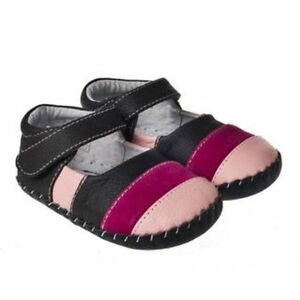 Baby-Girl-039-s-Children-039-s-Infant-Pink-Soft-Soled-REAL-Leather-Seconds-Shoes-Poppy