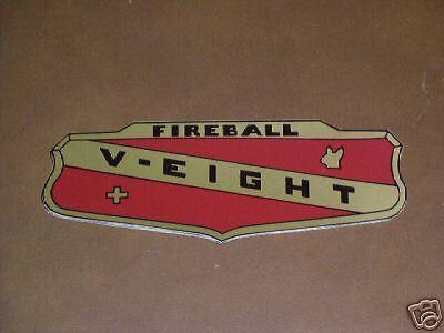 53 54 55 BUICK FIREBALL V-EIGHT  VALVE COVER DECAL 1953 1954 1955 STICKER NEW