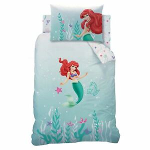 Disney-Princess-Ariel-Little-Mermaid-sous-la-Mer-Set-Housse-de-Couette-Simple