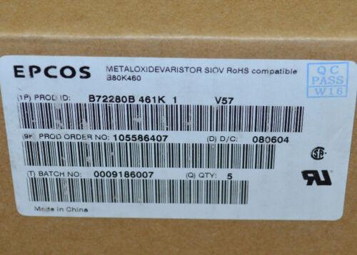 EPCOS b80k460 Varistor 750v 100ka Chassis Block Varistors Highe Series NEW