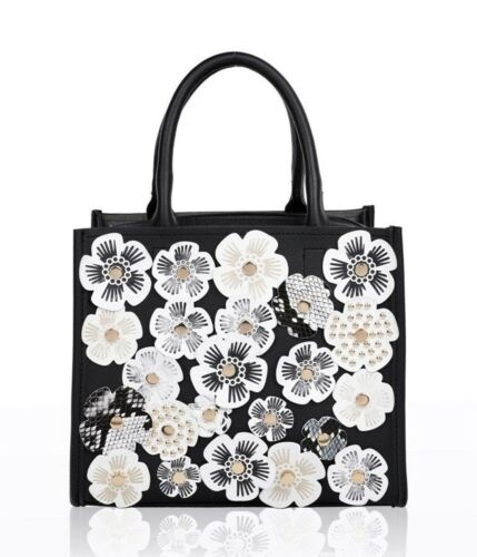LeahWard Ladies Fashion 3D Floral Cross Body Handbags Small Cute Tote Party Bags