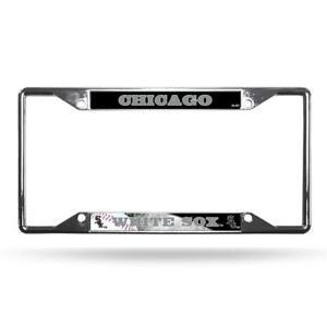 Chicago White Sox Ez View Chrome Plate License Frame New