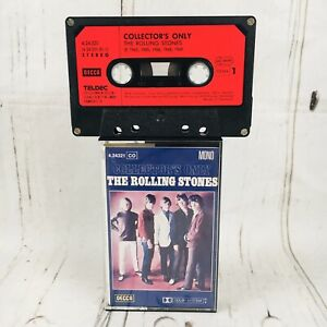 The Rolling Stones cassette tape paper label Decca Germany