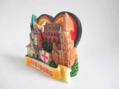 Freiburg Magnet Poly Modell Martinstor Schwabentor Souvenir Germany