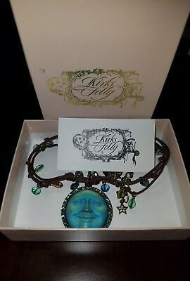 Beautiful Kirks Folly Cord Moon Necklace Original Box