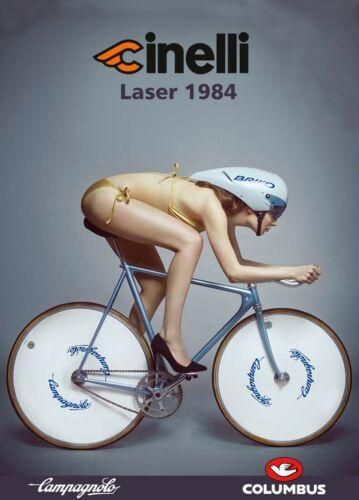 Cinelli Laser girl A4 poster Campagnolo Super Record Colnago #5