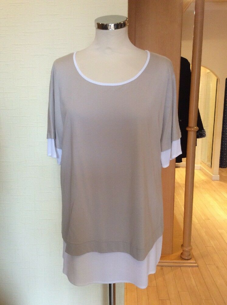 Riani Top Größe 18 BNWT Beige And Ivory RRP  Now