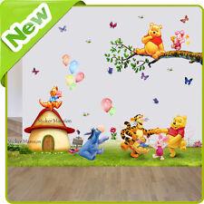 Winnie The Pooh Adesivi Da Parete Animale Pimpi Baby Nursery Cameretta Bambini