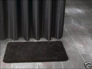 Tenda doccia in tessuto nero cm inclusi anelli nuovo ebay