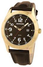 Lambretta Luigi Leather Strap Brown Dial Gold Tone Case Mens Watch 2125/BRO