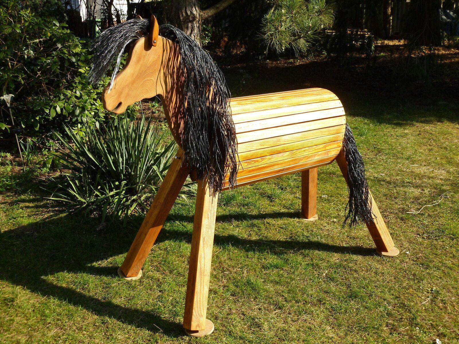 85cm Holzpferd Haflinger Voltigierpferd Pferd Pony mit Maul für Trense  NEU