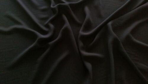 Black  Polyester Chiffon Fabric Material   FREE UK P/&P