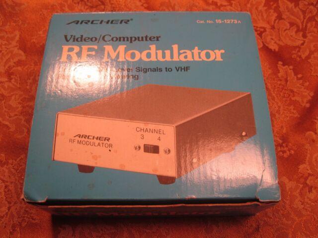 Vintage Archer VIdeo/Computer RF Modulator w/Box   15-1273A